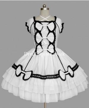 Criss-Cross Bow Gothic Lolita Dress