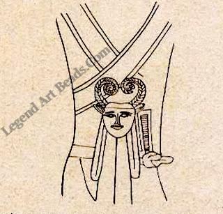 Pendant with Bat insignia tomb of Khufu-khaf.