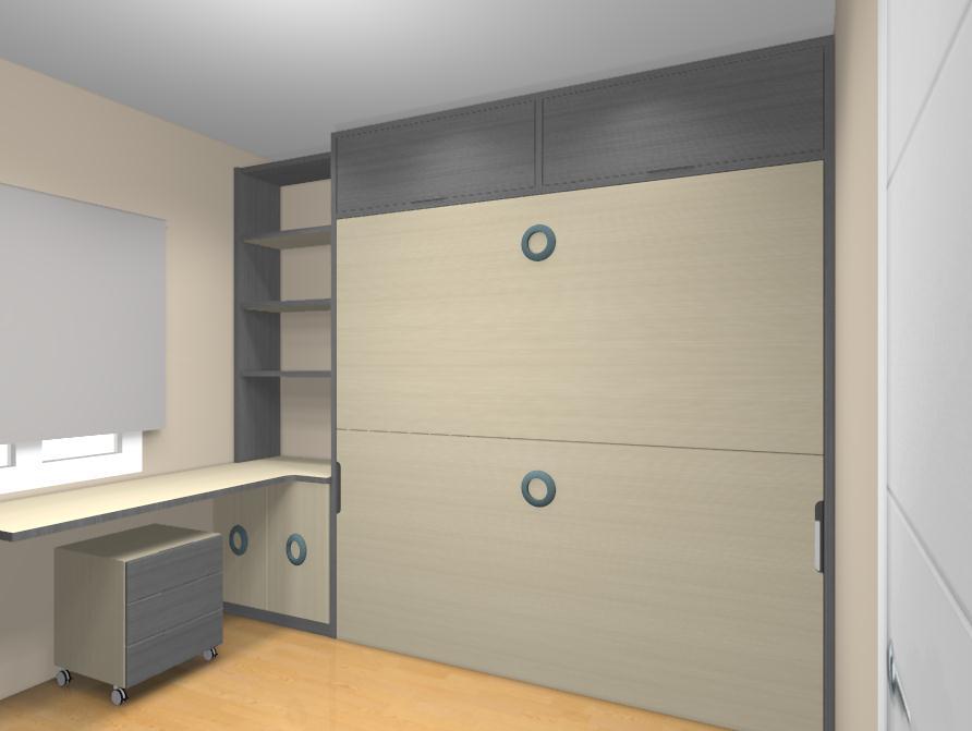 Dormitorios con camas abatibles literas abatibles - Mueble infantil madrid ...