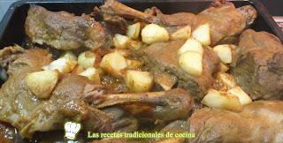 receta de cordero al horno con patatas y salsa de verduras