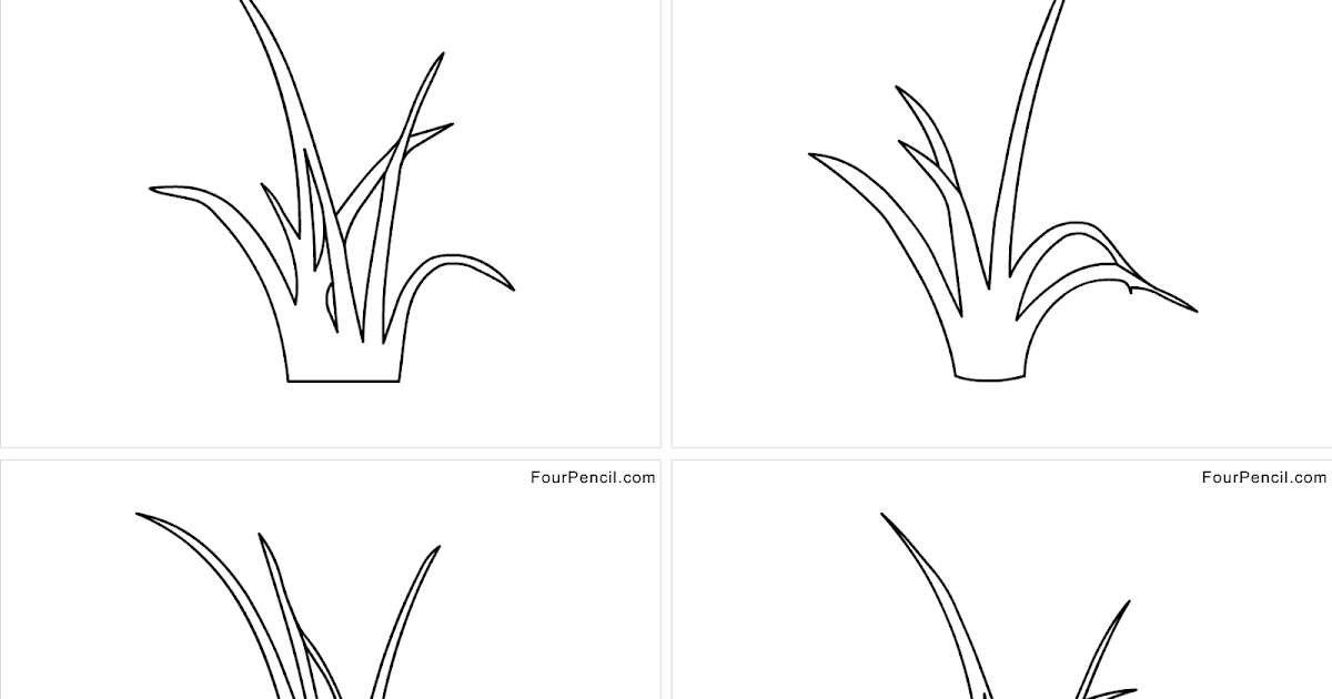 Four Coloring Free Printable Grass Coloring Pages For Kids