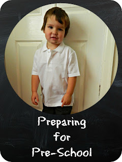 Preparing Bud for pre-school nursery