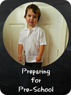 Preparing Bud for pre-school nursery