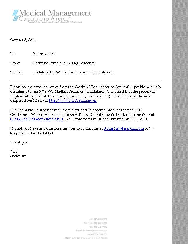 Medical Management Corporation Of America Memos From The Billing