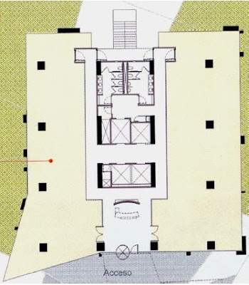Ficha paseo royal country 4650 torre aura corporativo for Planta arquitectonica biblioteca