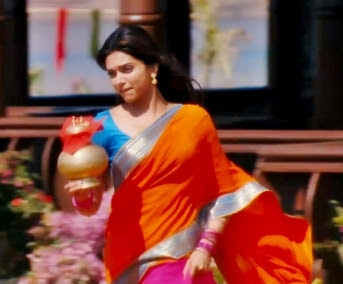 "Deepika padukone in half saree stills from ""Chennai express"""
