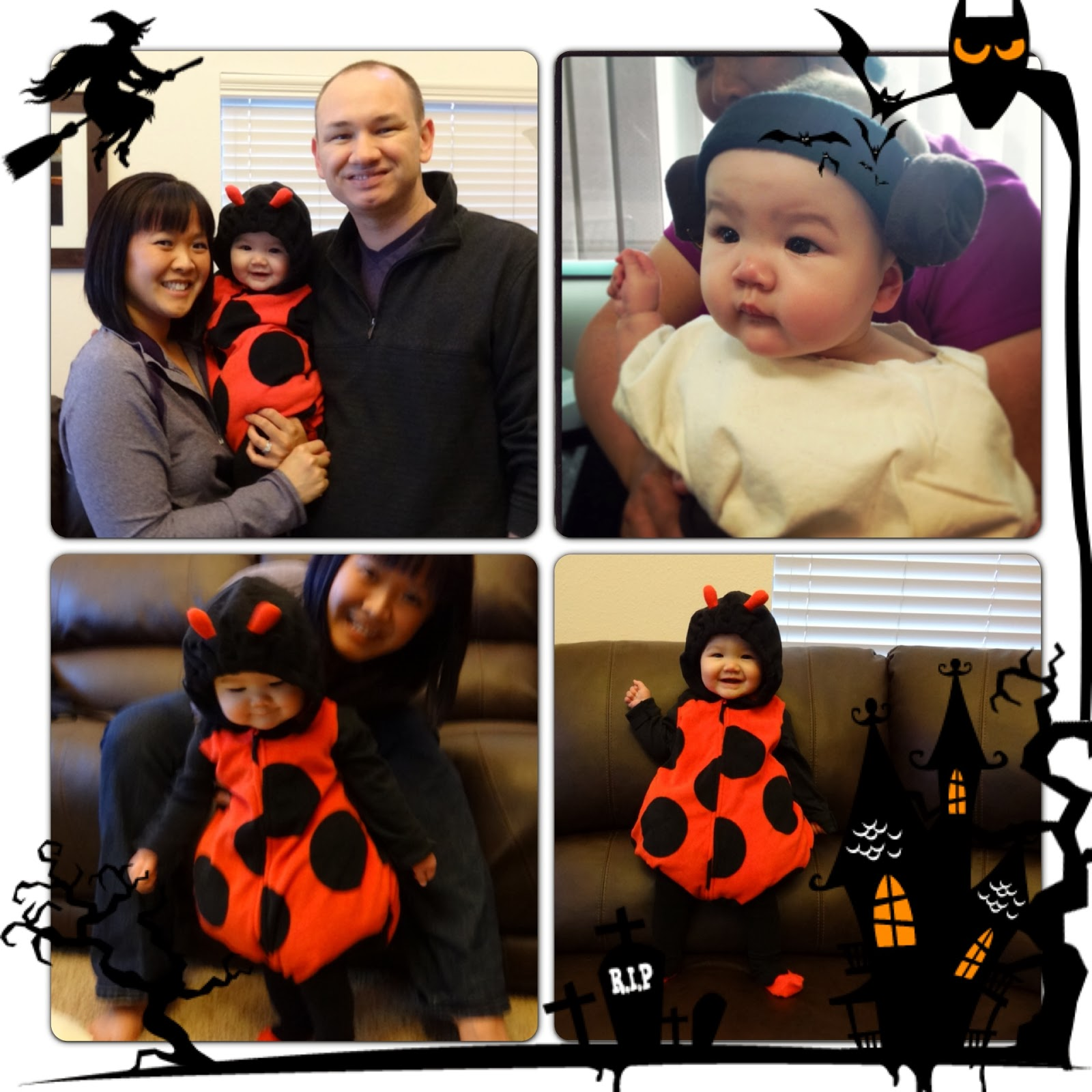 Princess Leia ladybug baby costume