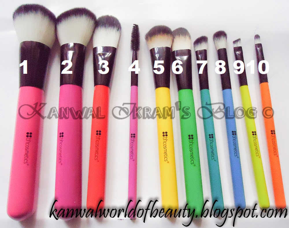 BH-Cosmetics 10 Pcs Pop Art Brush Set-Review and Swatches