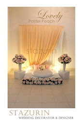 Pelamin Mini Eksklusif Pertunangan/Engagement/Pernikahan Pelamin Warna Lovely Pastel Peach