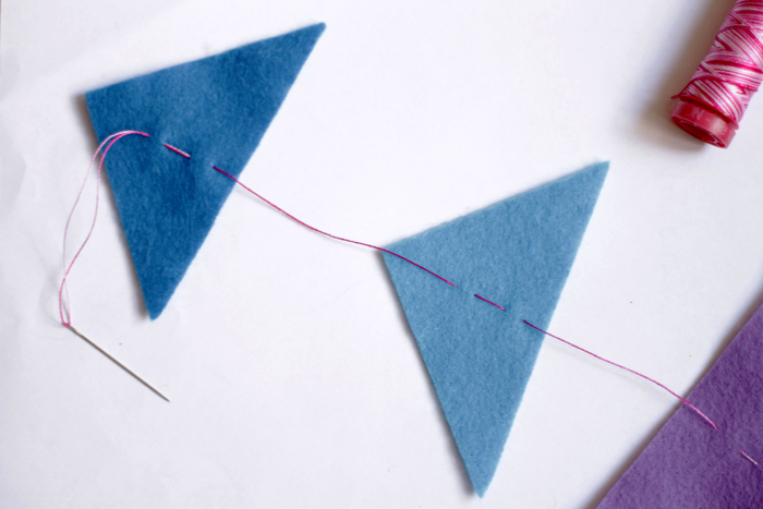 on the blog: felt garland kids craft tutorial