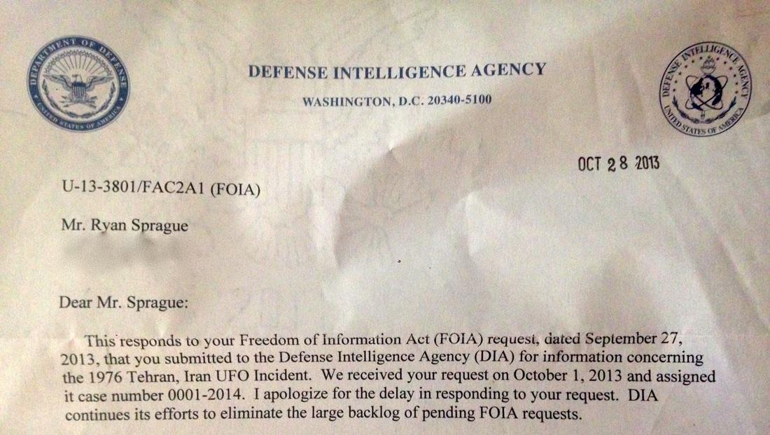 FOIA Reply By Ryan Sprague 10-28-2013