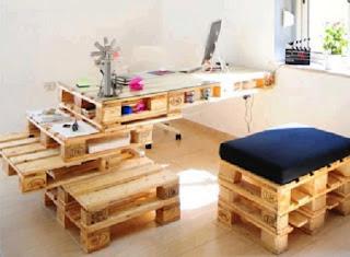 Escritorios con Palets Reciclados, Muebles y Decoracion Ecoresponsable