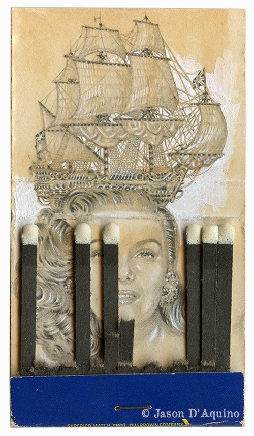 13-Galleon-Jason-D-Aquino-Vintage-Matchbook-Drawings-www-designstack-co