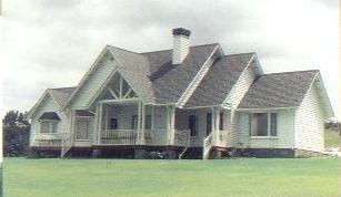 Fachadas de casas fachada casa americana for Fachadas de casas estilo americano