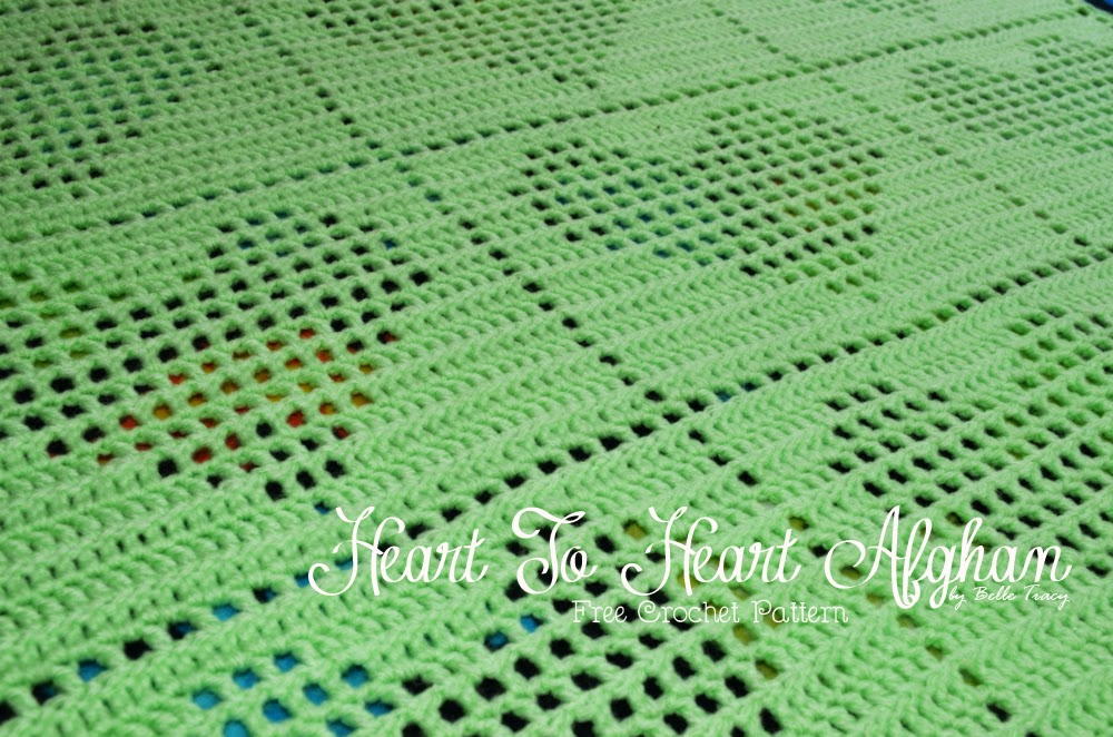 Crochet Heart Afghan Pattern Free : Crochet Treasures: Heart To Heart Afghan