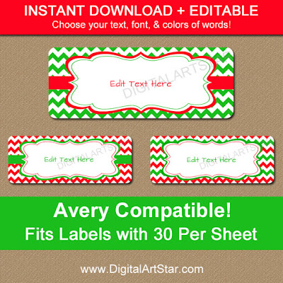 printable avery christmas gift labels or address labels