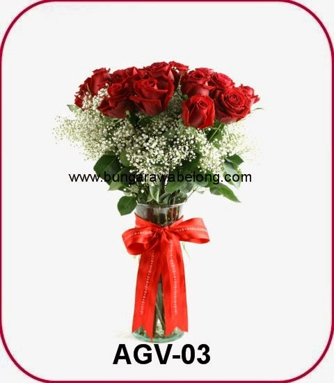 buket mawar merah
