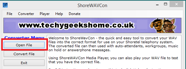 Click to view ShoreWAVConv screenshots