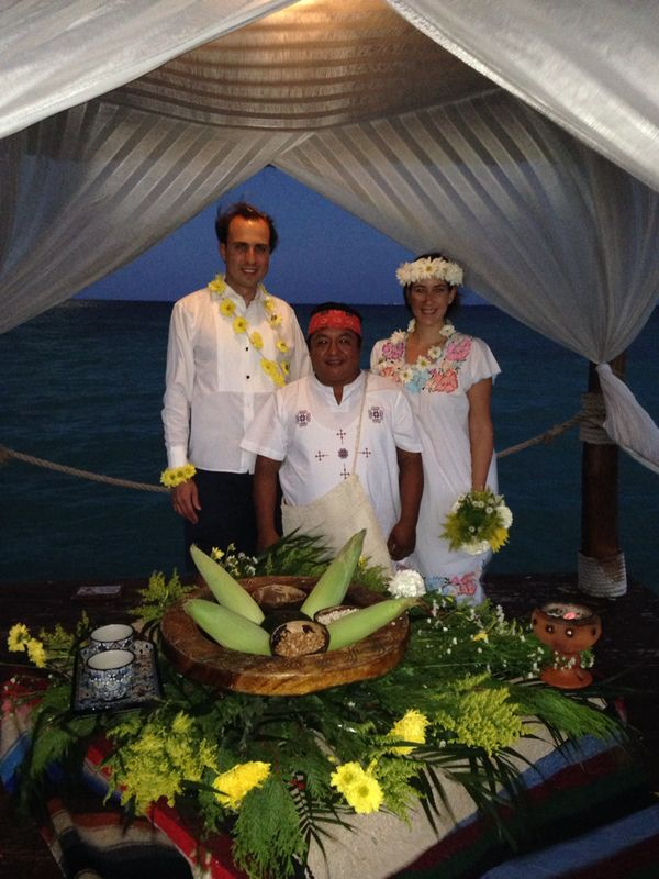 Chaman. Ceremonia de boda maya