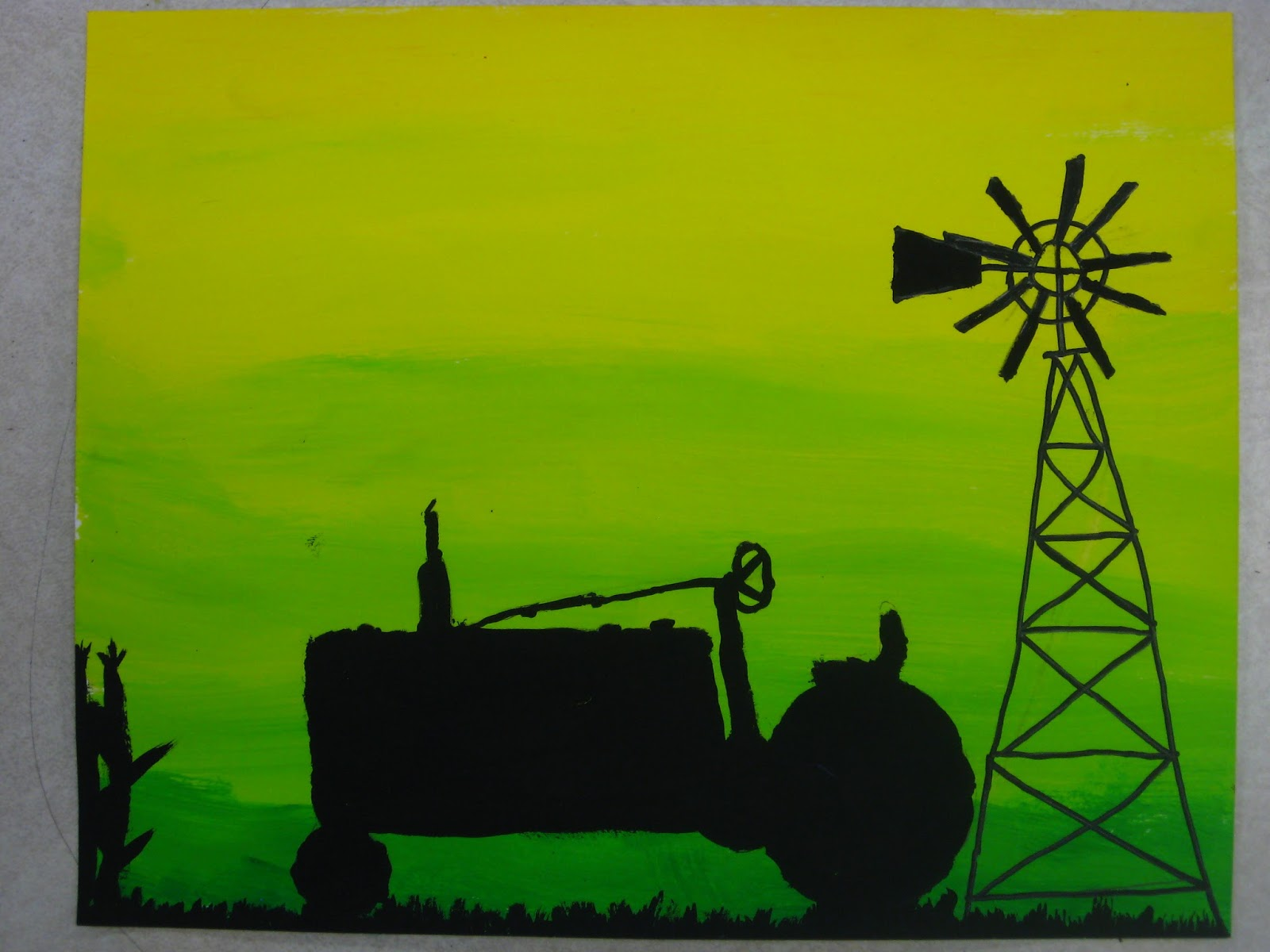 Miss Young\'s Art Room: 6th Grade Silhouette Paintings
