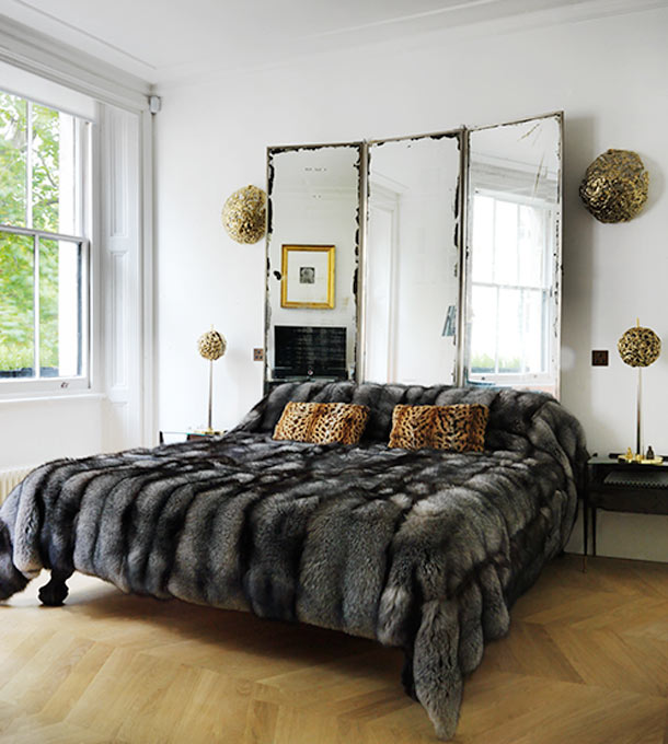 Inspiraci n de fin de semana espejos antiguos como cabeceros de cama etxekodeco blog - Cabeceros de cama antiguos ...