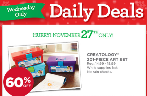 Michaels Doorbuster Deals: 60% Off Creatology 201-Piece Art Sets Today Only + More