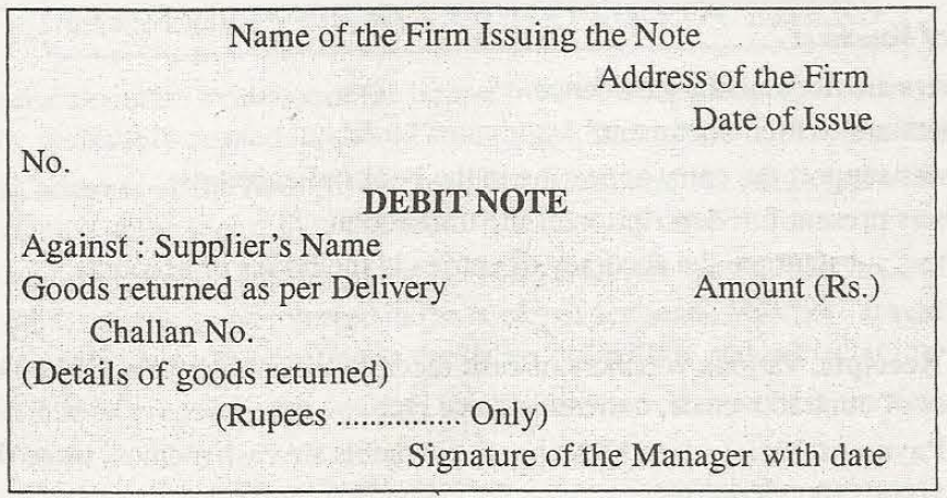 Chartered Blood DEBIT AND CREDIT NOTES EXPLAINED – Letter of Debit Note