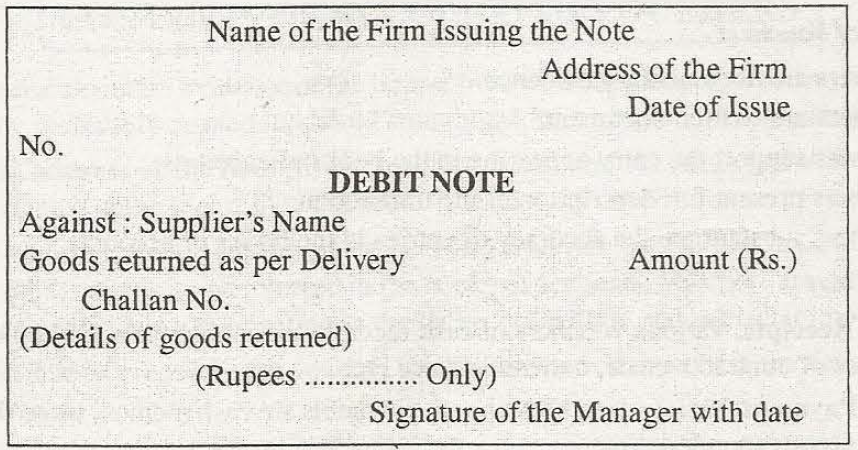 Chartered Blood  Debit Note Issued By Supplier