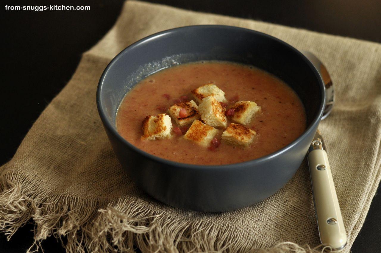 Linsen-Speck-Suppe