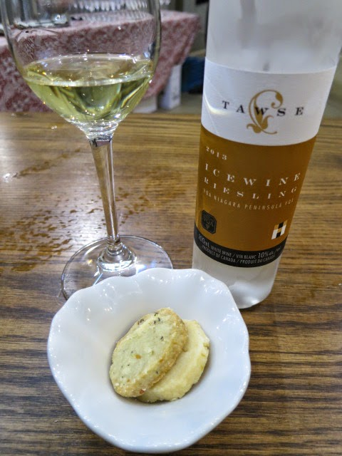 Shortbread cookies and Tawse Riesling Icewine