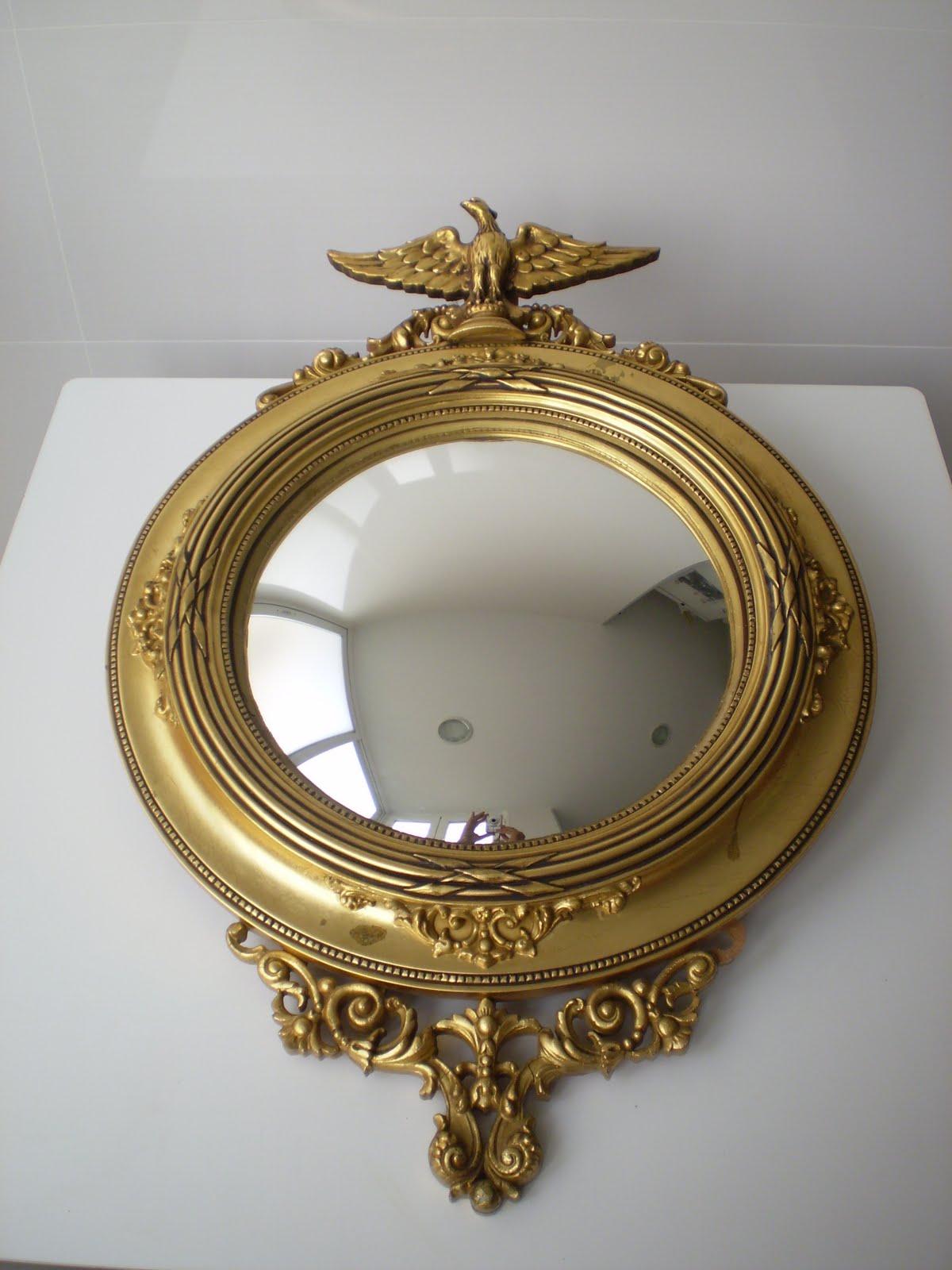 Vintager a espejo imperial convexo u ojo de bruja oeil for Espejo ojo de buey