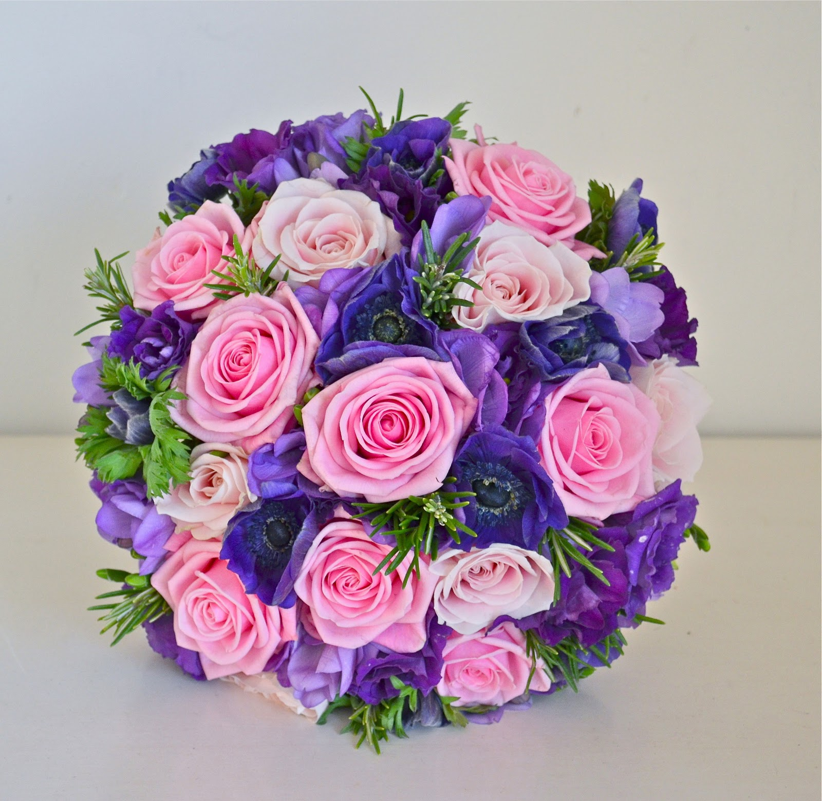 wedding bouquet with purple flowers - wedding flowers 2013