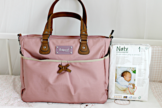 what's in my hospital bag, what's in my baby's hospital bag, Babymel Lily Oyster Changing Bag, Naty Nappies