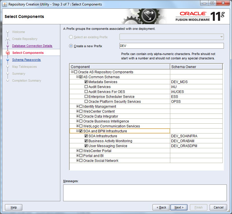 how to specify tablespace in create table oracle