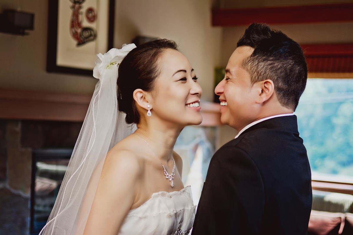A very happy married couple:  Miki and Luis - Kent Buttars, Seattle Wedding Officiant