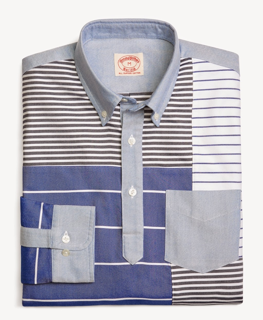 Brooks Brothers Oxford Patchwork Sport Shirt