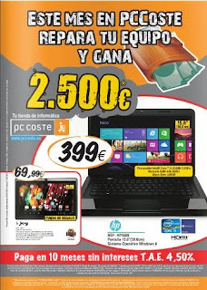 catalogo pc coste julio 2013