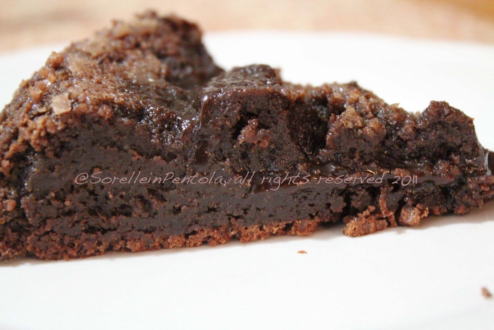 Conosciuto Sorelle in pentola: Il dolce al cioccolato fondente di Nathalie. UV63