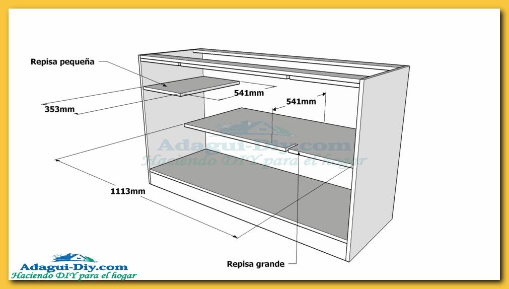 Como hacer muebles de cocina plano mueble bajo mesada de for Como hacer muebles para cocina