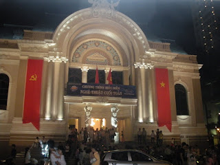 Municipal Theatre of Saigon. Vietnam