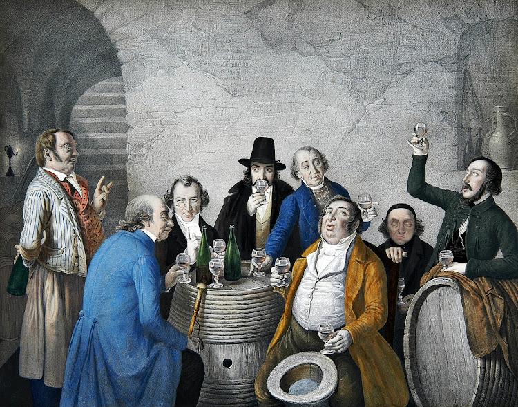 Johann Peter Hasenclever - Weinverkoster in einem Keller