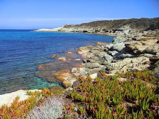 The coast near Tollare in Cap Corse