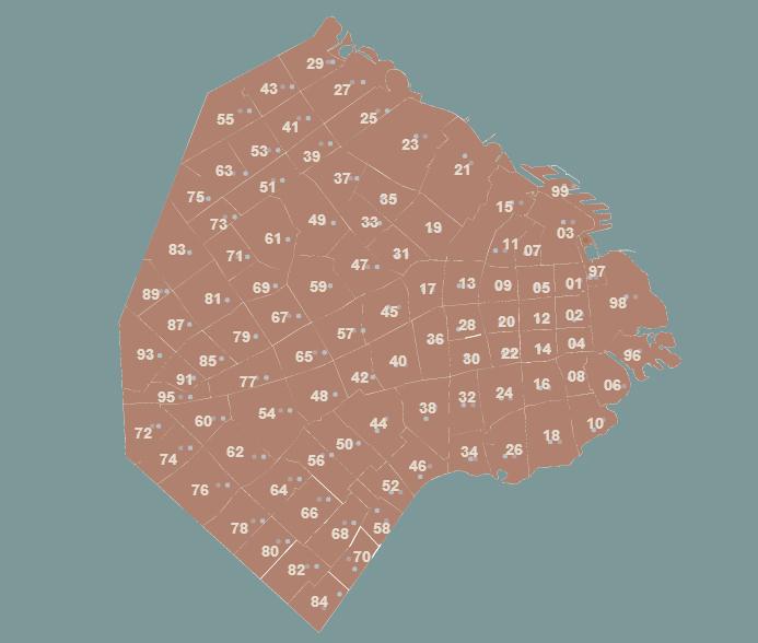 mapa de secciones catastrales (indice de archivo)