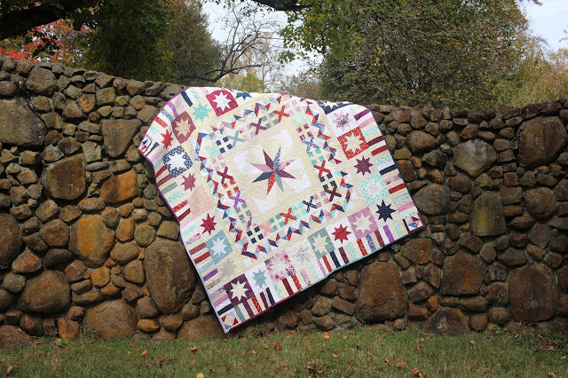 Milky Way medallion quilt