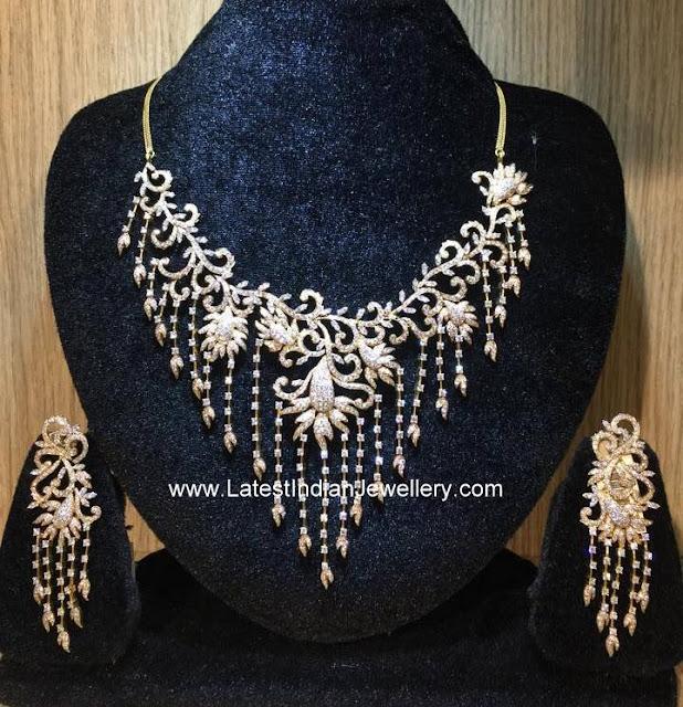 Floral Indian Diamond Necklace