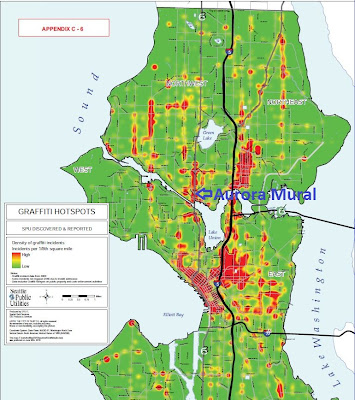 Seattle Graffiti Hotspot Map