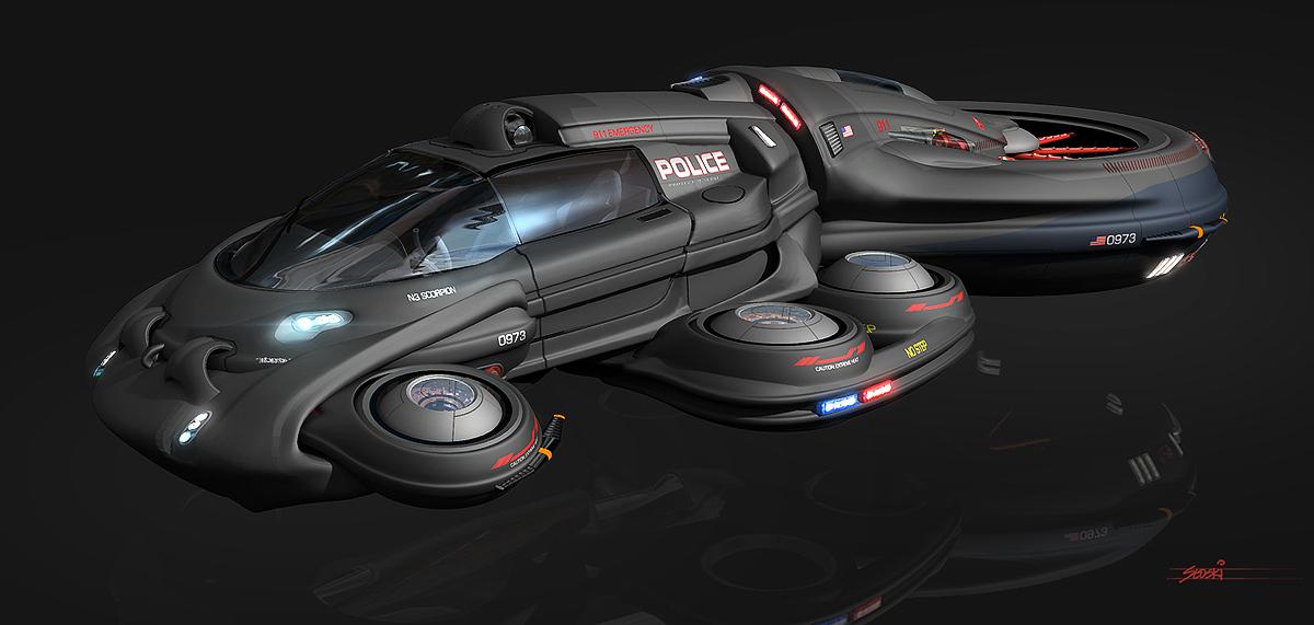 Chris Stoski Police Cruiser Concept Vehicle