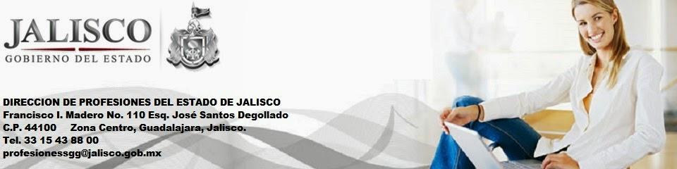 DIRECCIÓN DE PROFESIONES DEL ESTADO DE JALISCO