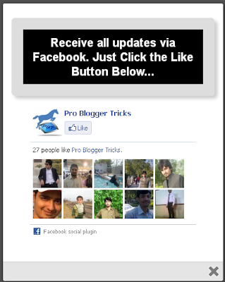 How to Add New Facebook Pop Up like box For Blogger 2013