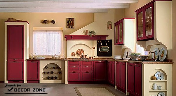 kitchen design with red cabinets and beige walls red kitchen cabinets